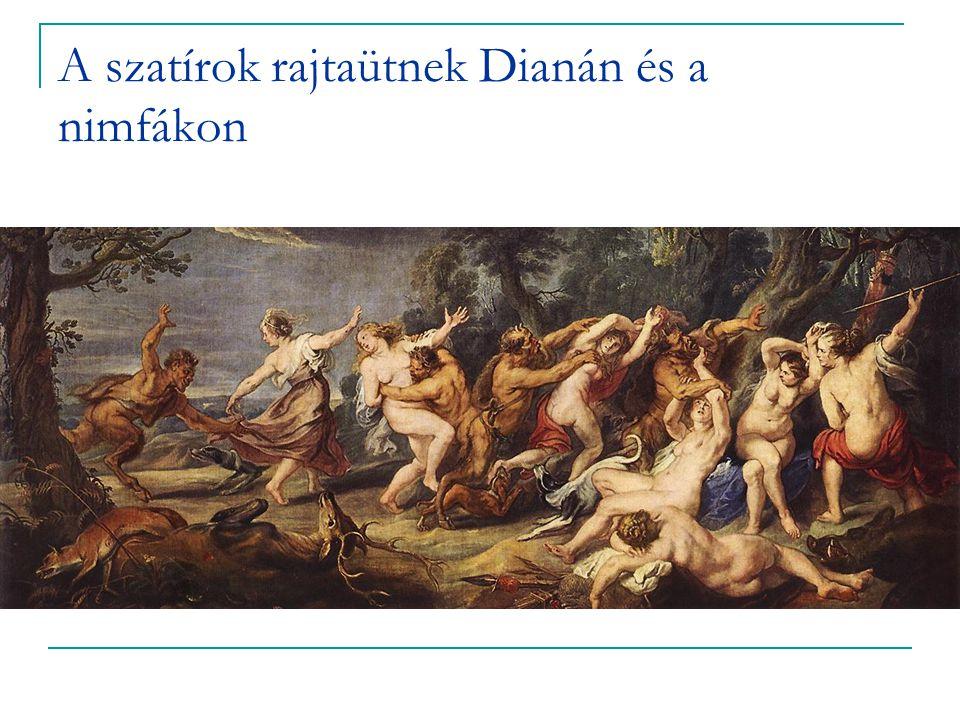 A szatírok rajtaütnek Dianán és a nimfákon