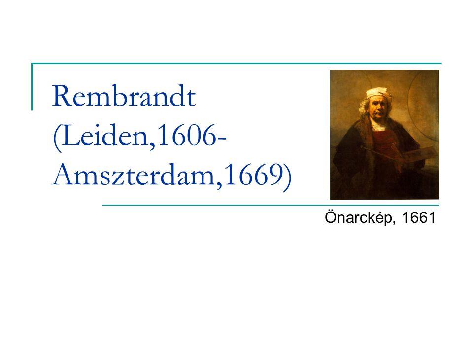 Rembrandt (Leiden,1606- Amszterdam,1669) Önarckép, 1661