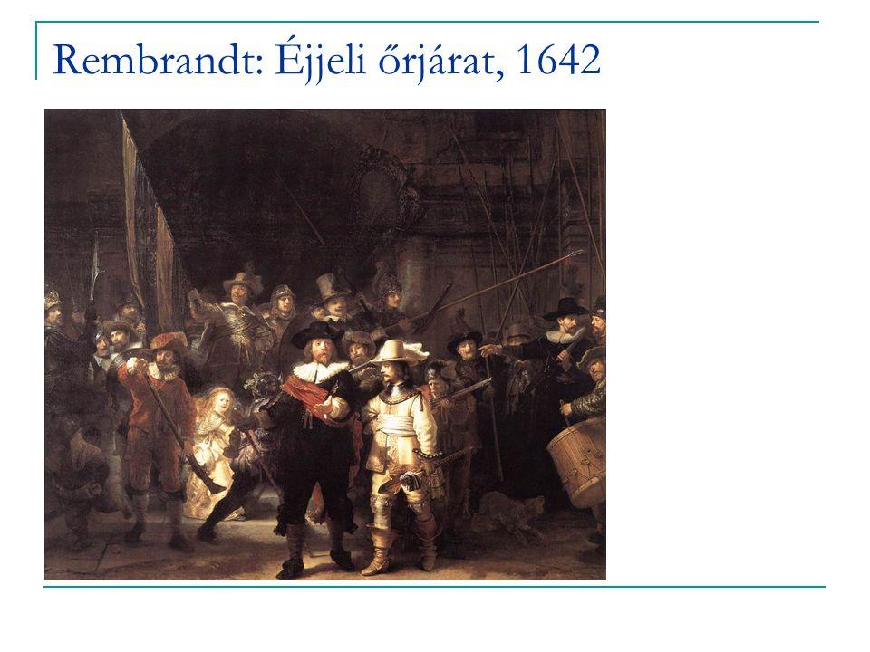 Rembrandt: Éjjeli őrjárat, 1642