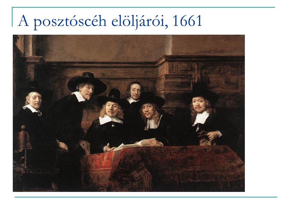 A posztóscéh elöljárói, 1661