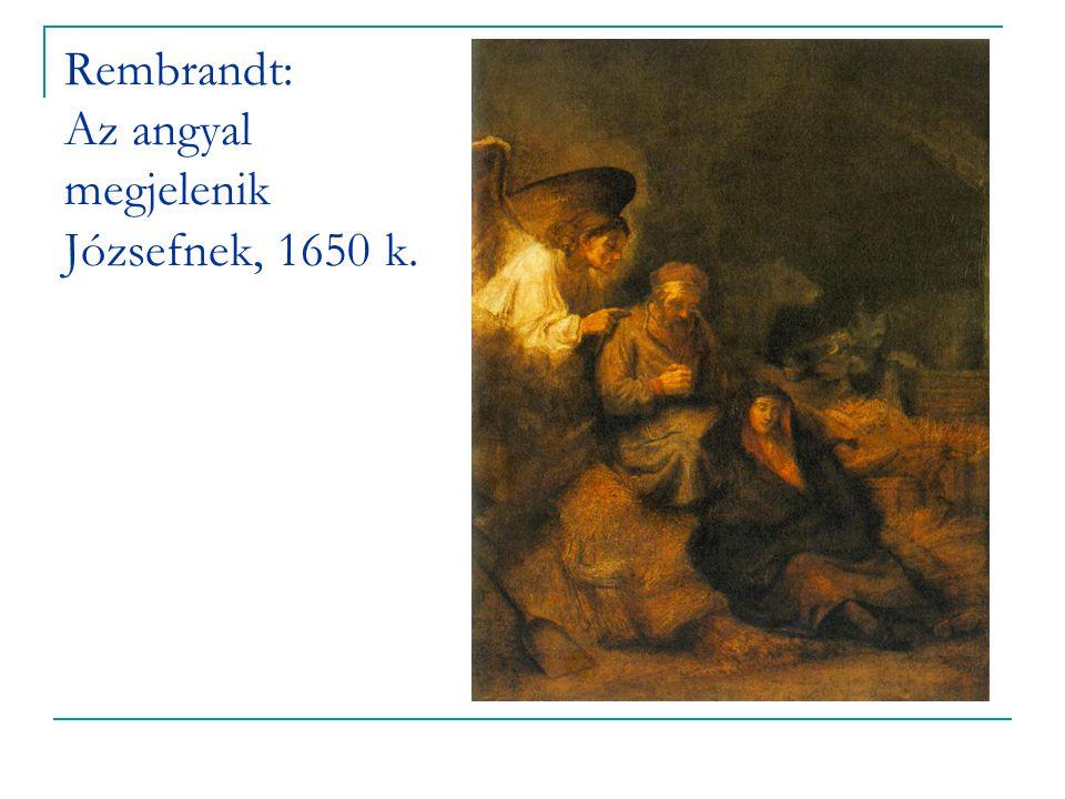 Rembrandt: Az angyal megjelenik Józsefnek, 1650 k.