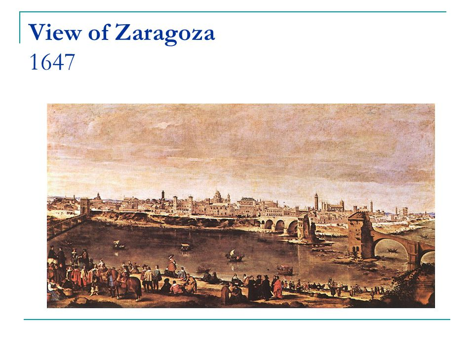 View of Zaragoza 1647