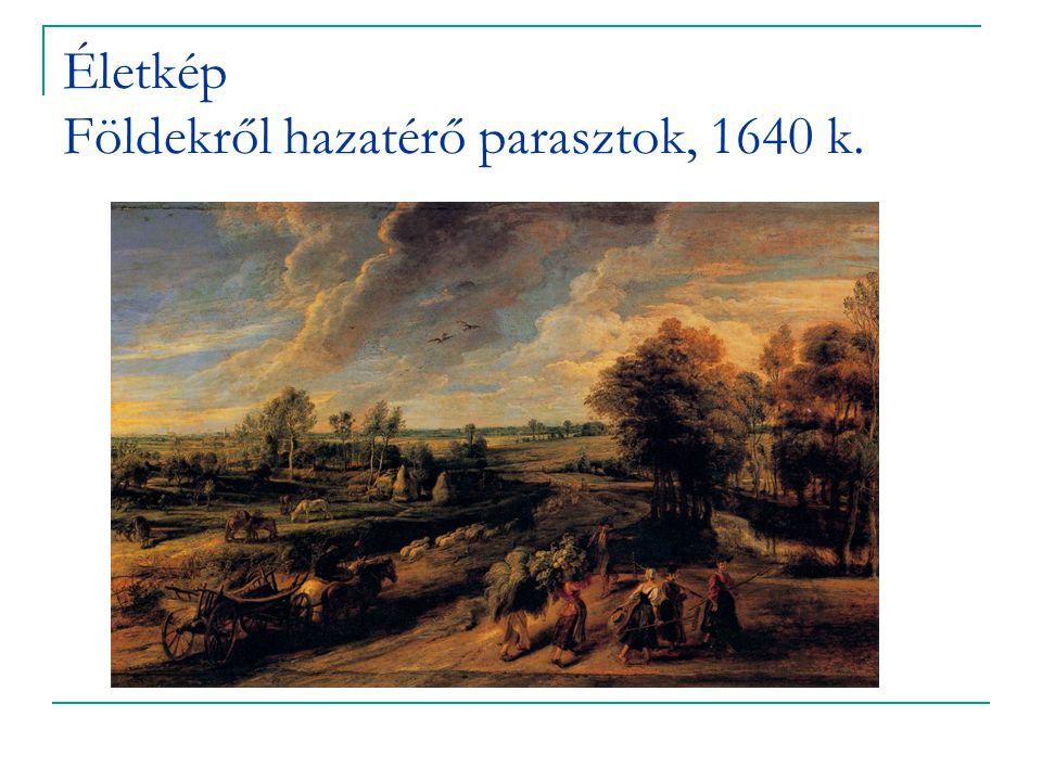 Életkép Földekről hazatérő parasztok, 1640 k.