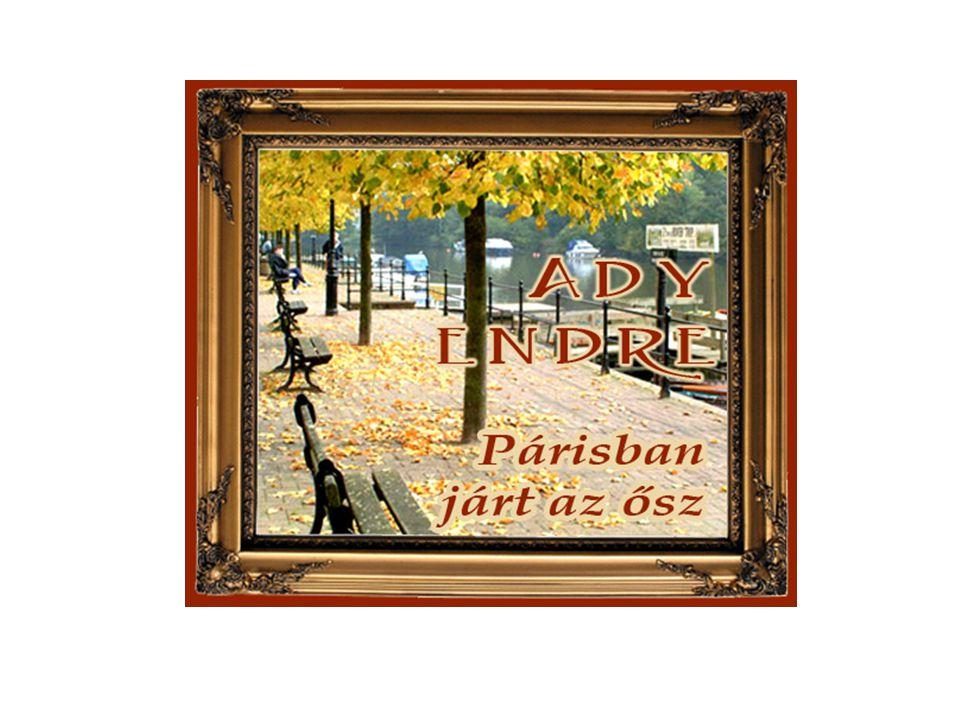 1906 Párizs Akkor nyáron korán beköszöntött az ősz, és a sarkon besodorta a szél a hulló faleveleket.