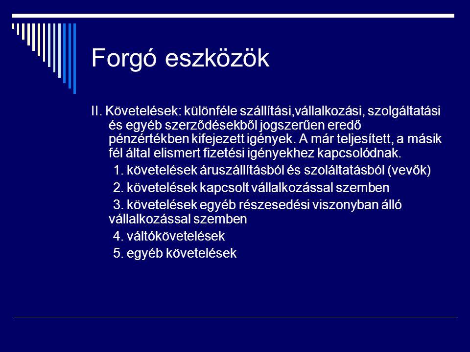 Forgó eszközök II.