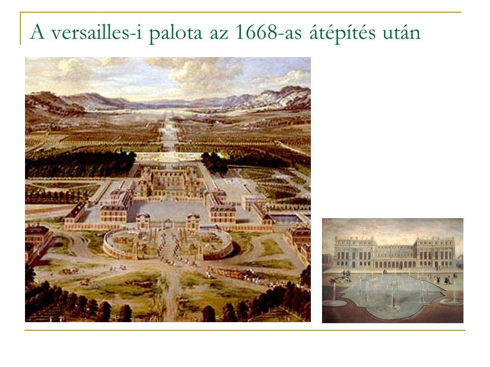 A versailles-i palota az 1668-as átépítés után