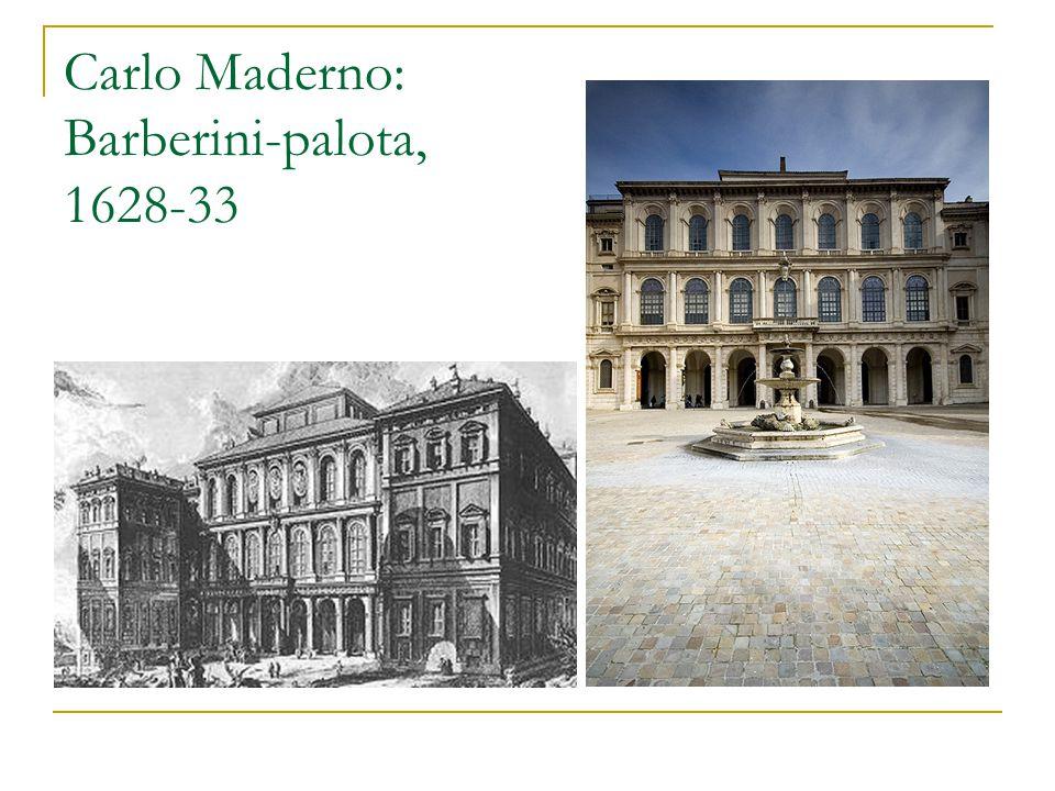 Carlo Maderno: Barberini-palota, 1628-33