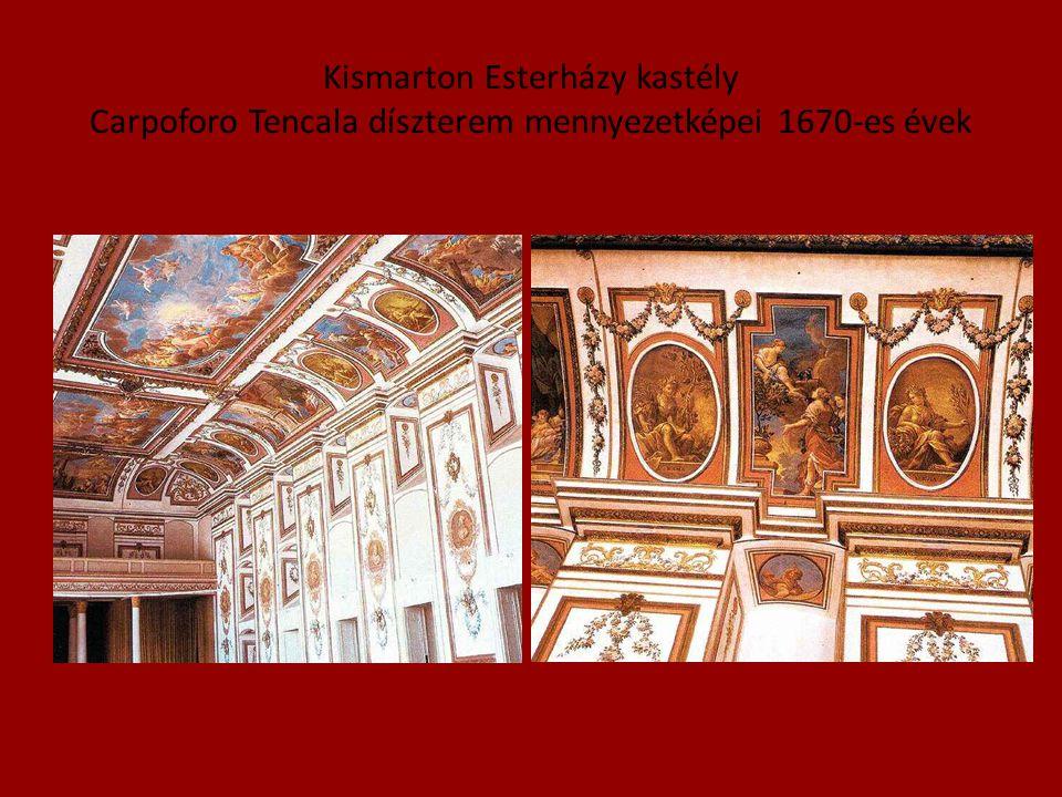 Kismarton Esterházy kastély Carpoforo Tencala díszterem mennyezetképei 1670-es évek
