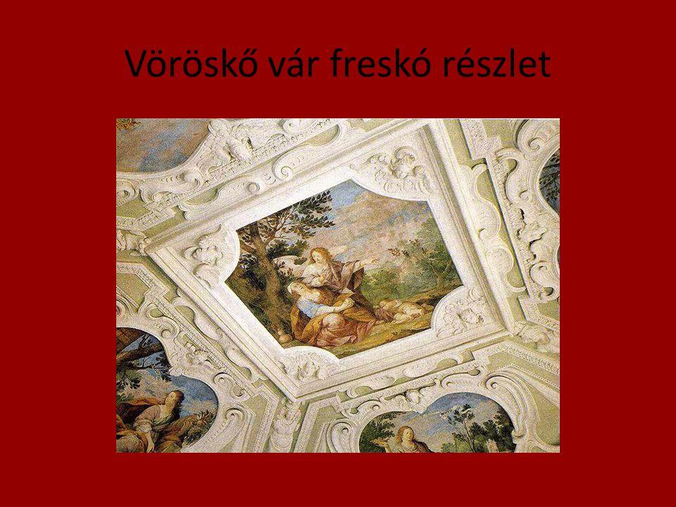 Vöröskő vár freskó részlet