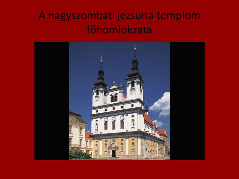 A nagyszombati jezsuita templom főhomlokzata