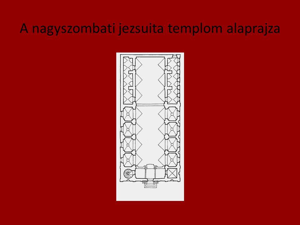 A nagyszombati jezsuita templom alaprajza