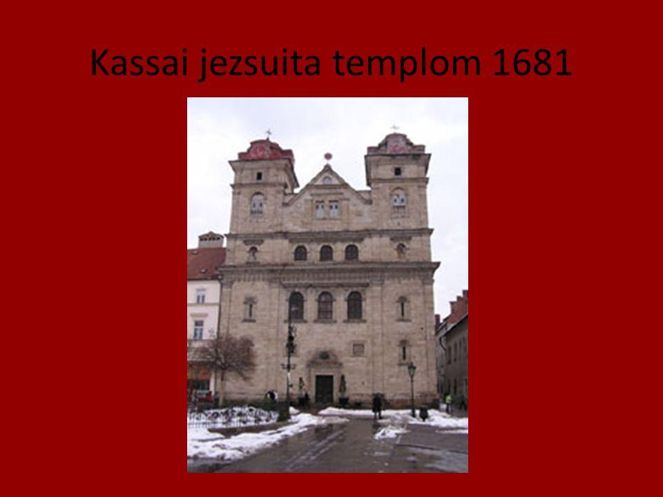 Kassai jezsuita templom 1681