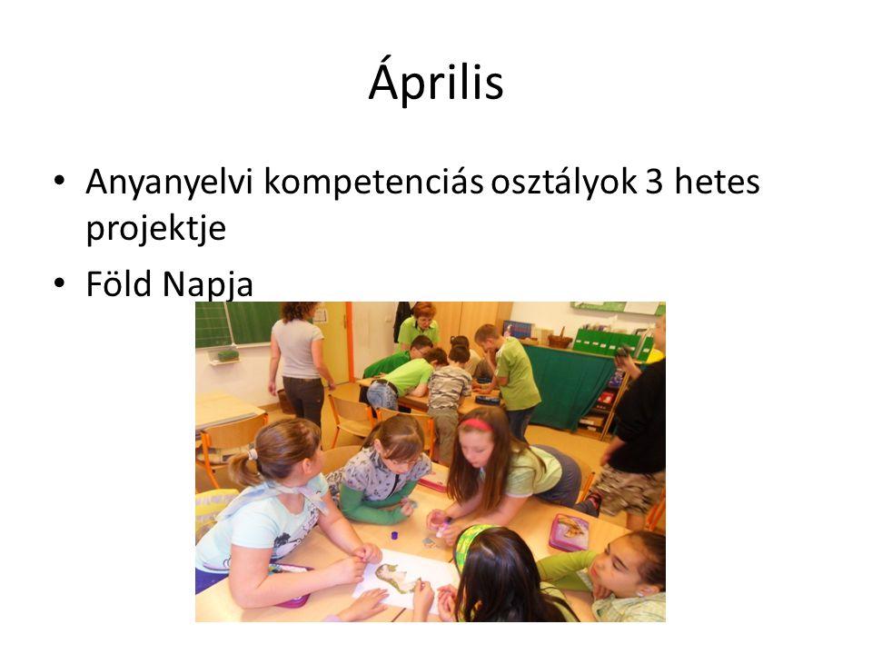 Április Anyanyelvi kompetenciás osztályok 3 hetes projektje Föld Napja