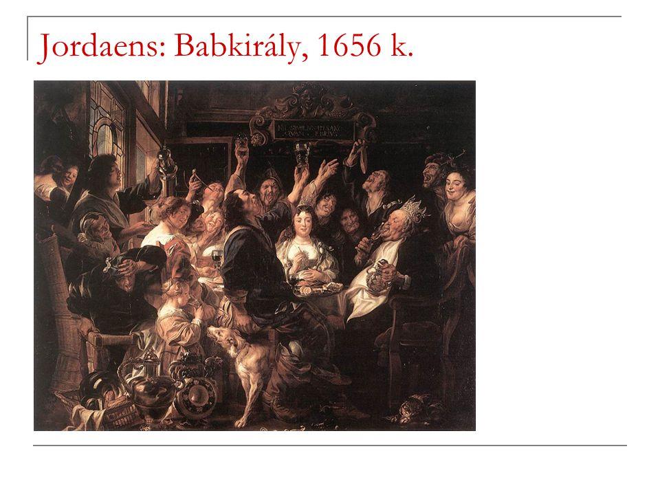 Jordaens: Babkirály, 1656 k.