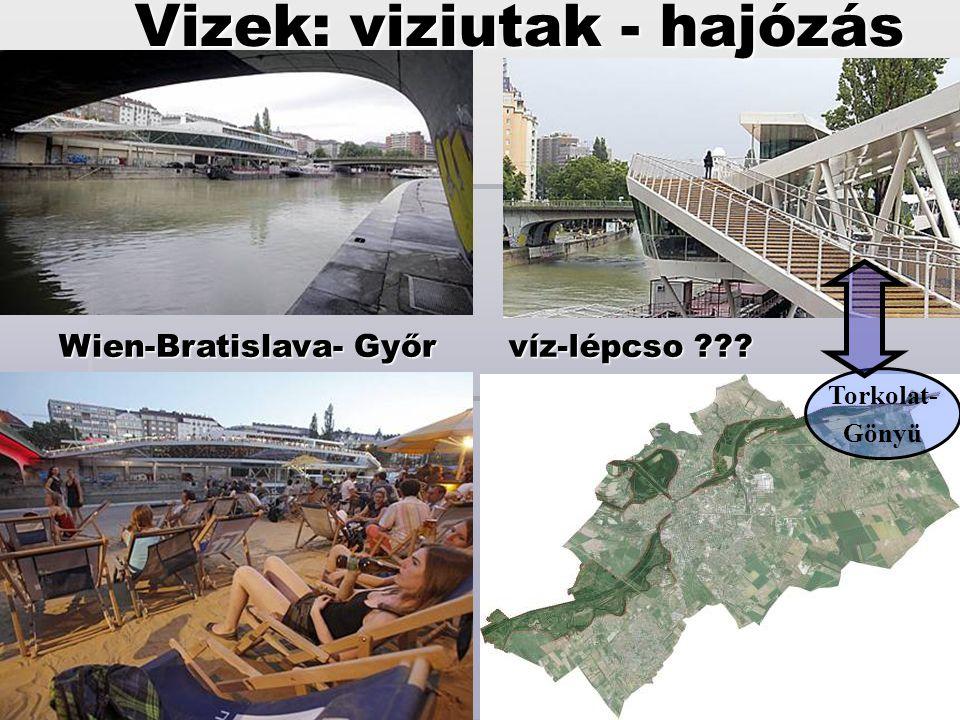 Wien-Bratislava- Győr víz-lépcso ??? Torkolat- Gönyü Vizek: viziutak - hajózás
