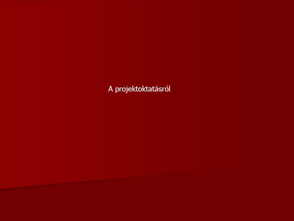 """Mi a projekt.- A """"projekt kifejezést az oktatásban pedagógiai értelemben először 1900-ban R."""