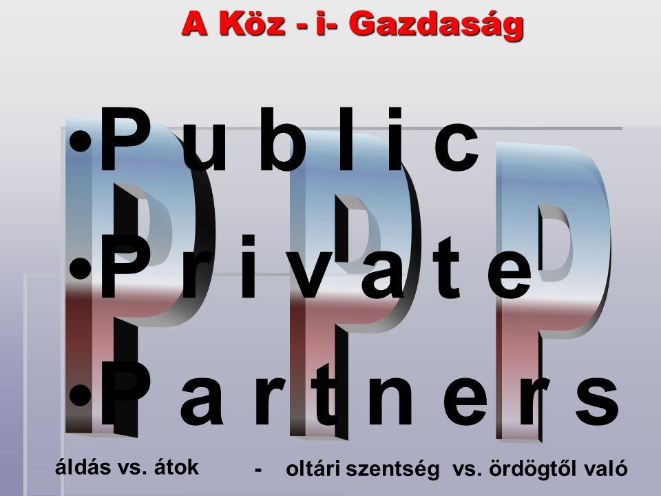 i- Gazdaság i- Gazdaság A Köz - áldás vs. átok - oltári szentség vs.