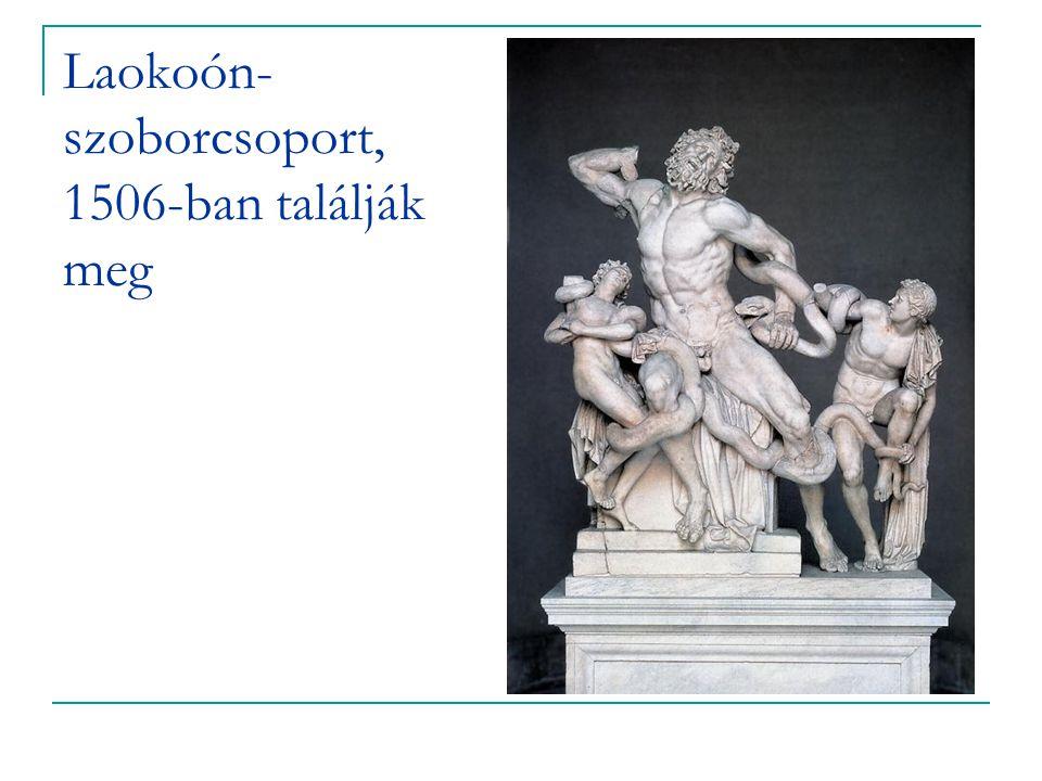 Laokoón- szoborcsoport, 1506-ban találják meg