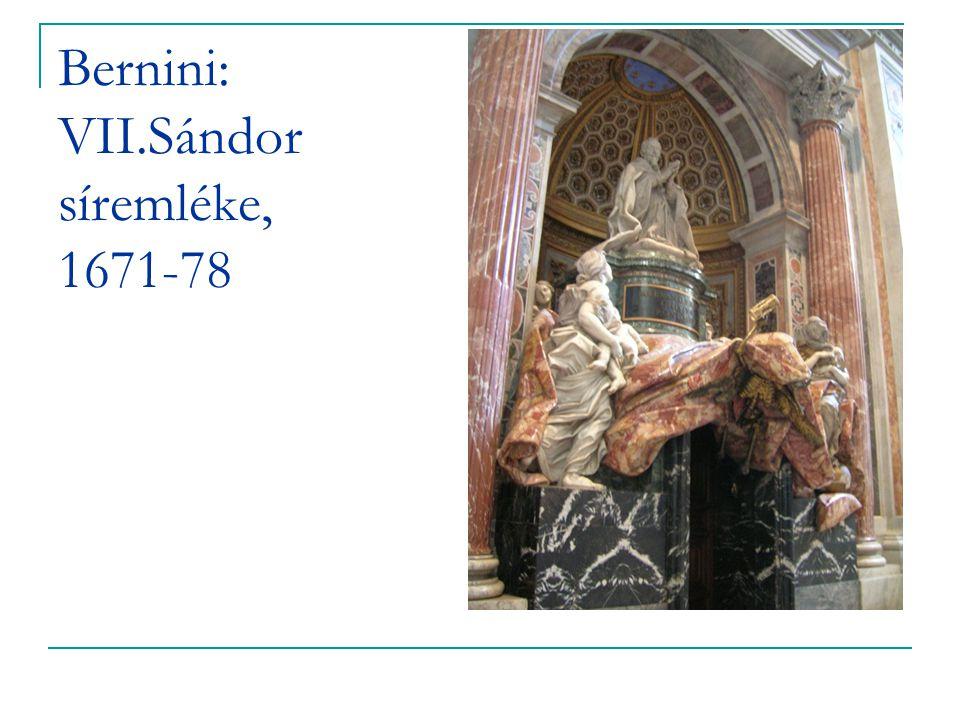 Bernini: VII.Sándor síremléke, 1671-78
