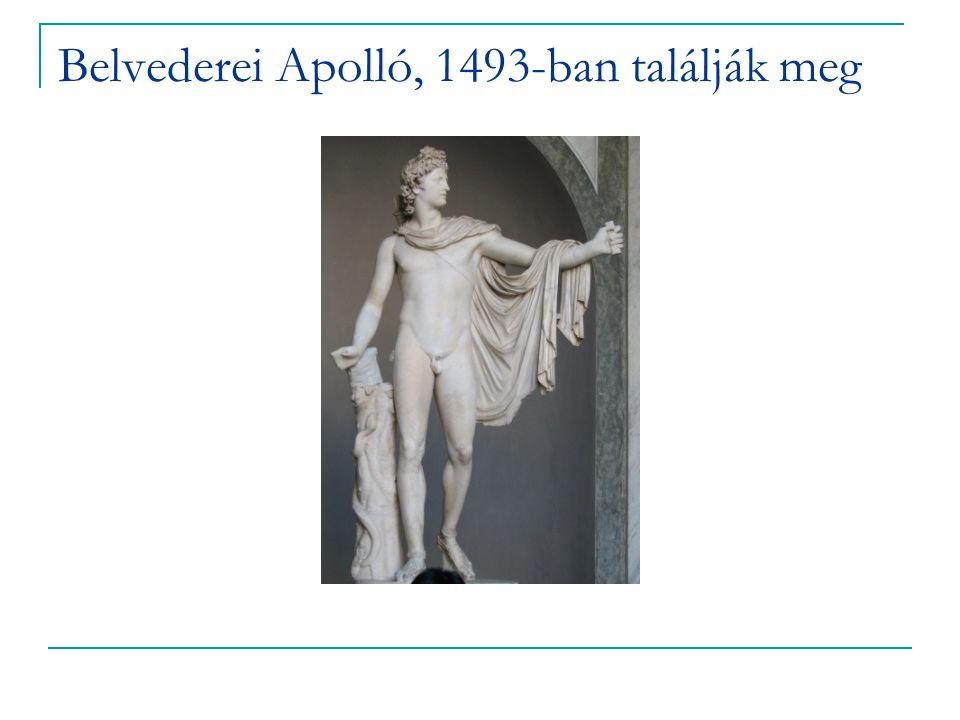 Belvederei Apolló, 1493-ban találják meg
