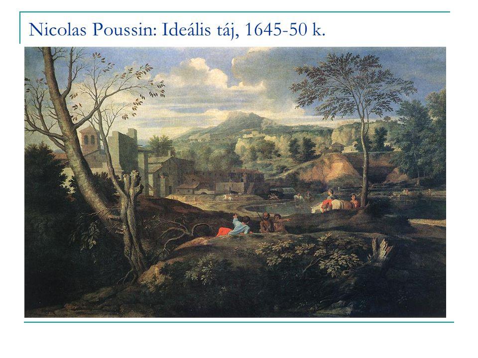 Nicolas Poussin: Ideális táj, 1645-50 k.