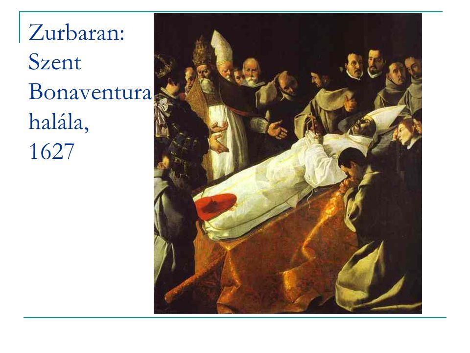 Zurbaran: Szent Bonaventura halála, 1627