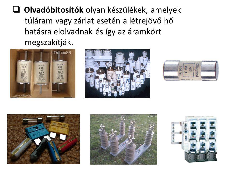  Kismegszakító ( kisautomata ) olyan készülék, amelyek kisteljesítményű fogyasztói leágazásokban ( pld.