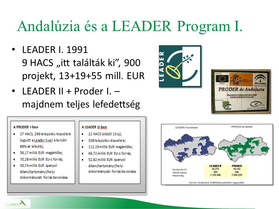Andalúzia és a LEADER Program I. LEADER I.