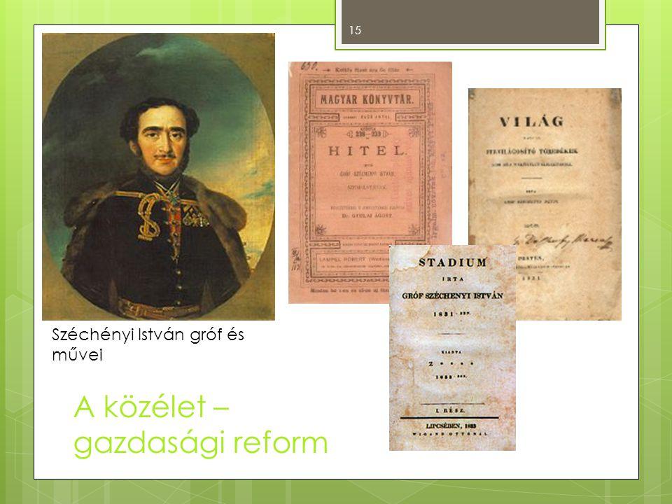 Széchényi István gróf és művei 15 A közélet – gazdasági reform