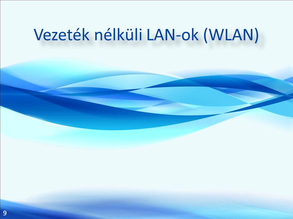 9 Vezeték nélküli LAN-ok (WLAN)