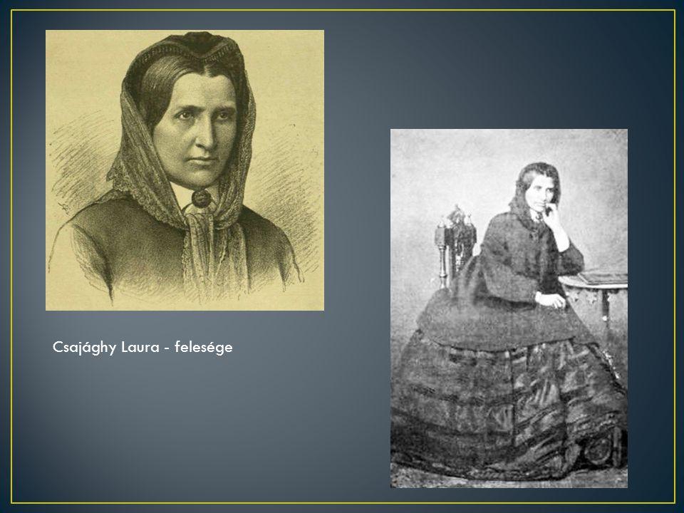 Csajághy Laura - felesége
