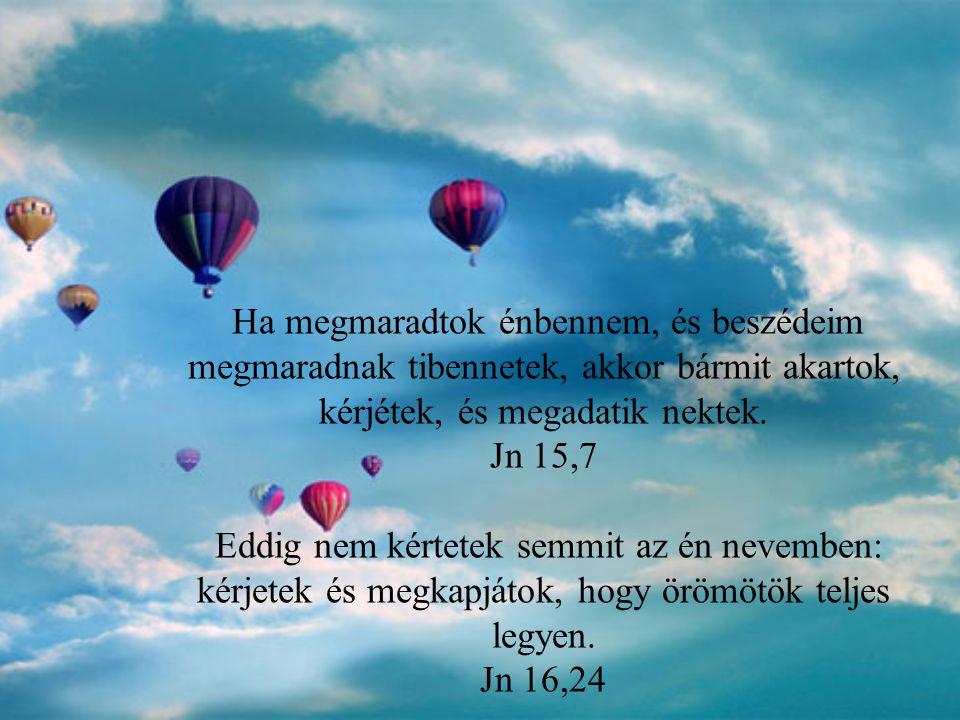 Kérj jelt Istenedtől, az ÚRtól, akár lentről a mélyből, akár fentről a magasból.