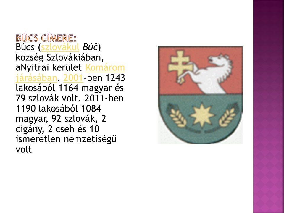 Búcs (szlovákul Búč) község Szlovákiában, aNyitrai kerület Komárom járásában.
