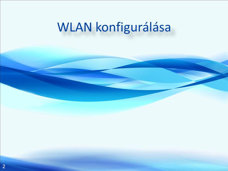 2 WLAN konfigurálása