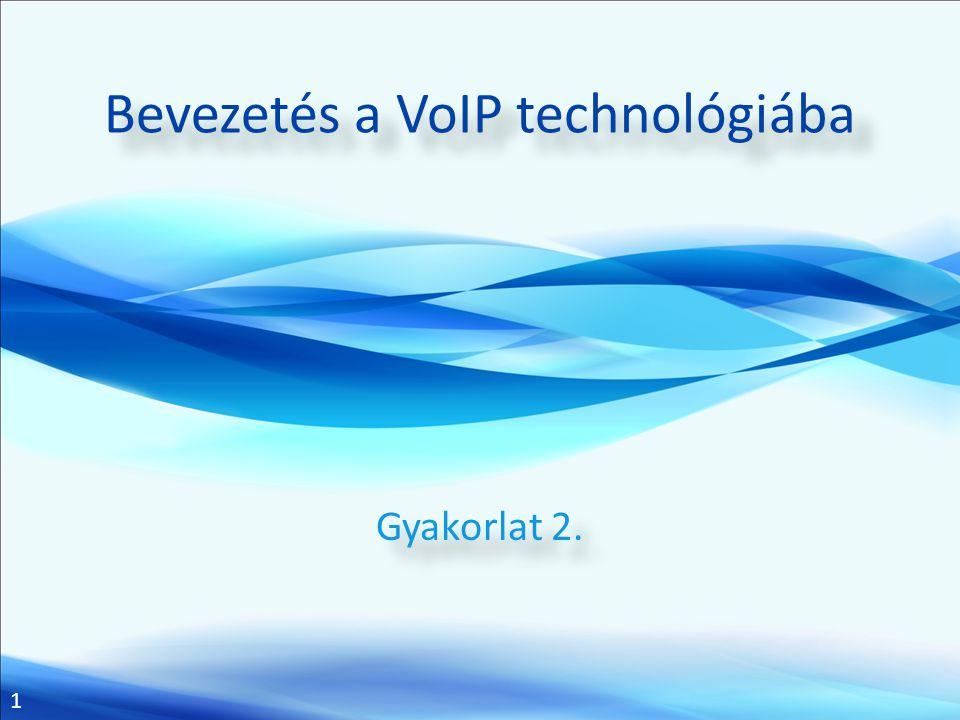 1 Bevezetés a VoIP technológiába Gyakorlat 2.