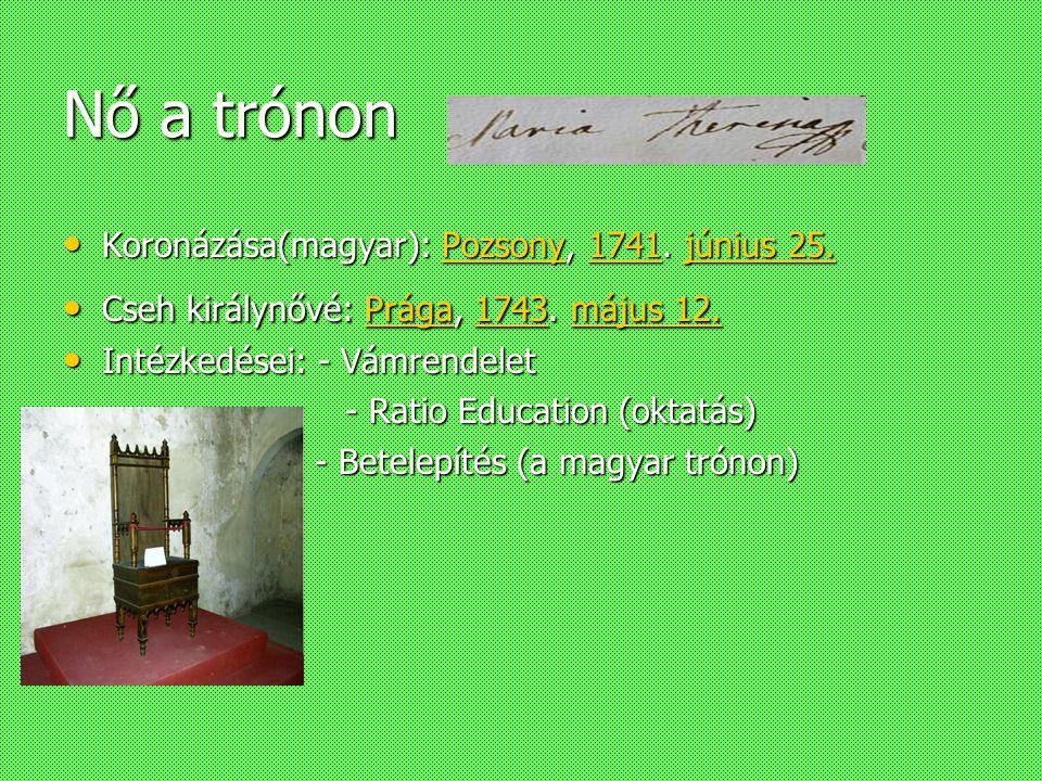 Életrajzi adatok Bécsben született 1717 május 13-án Bécsben született 1717 május 13-án Teljes neve:Maria Theresia Amalia Walpurga von Österreich Teljes neve:Maria Theresia Amalia Walpurga von Österreich Meghalt:1780 November 29.-én Meghalt:1780 November 29.-én Szülei Szülei –Apja:III.