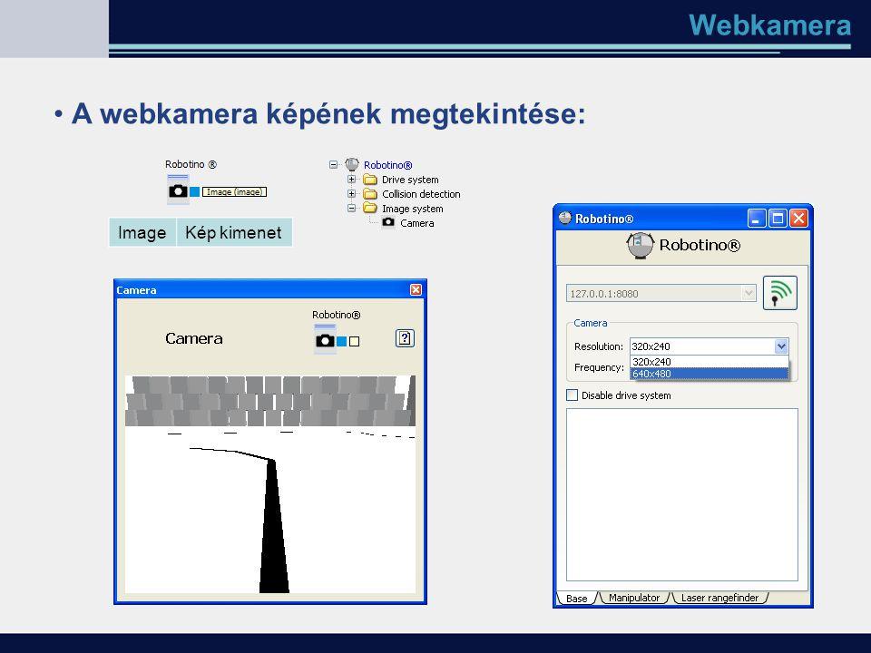 Webkamera A webkamera képének megtekintése: ImageKép kimenet