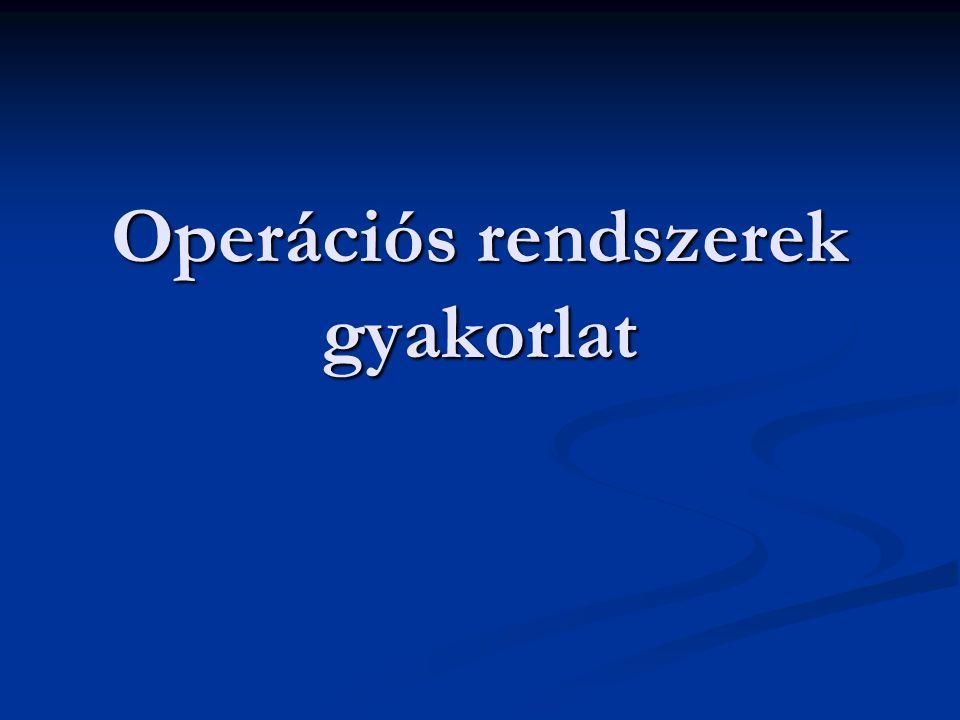 Operációs rendszerek gyakorlat