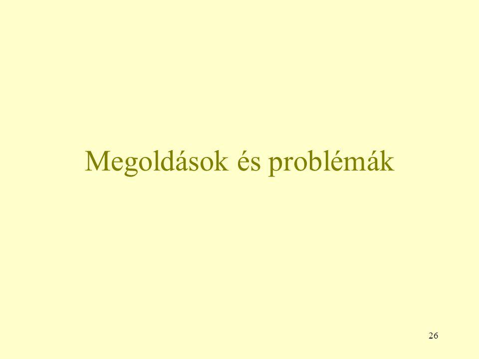 26 Megoldások és problémák