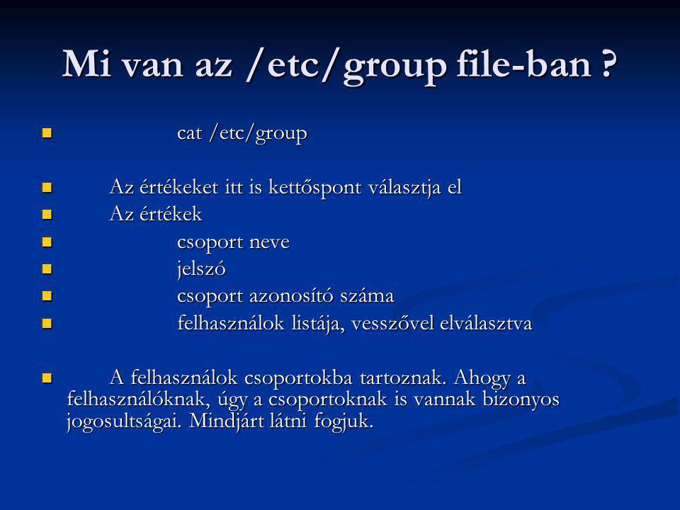 Mi van az /etc/group file-ban .