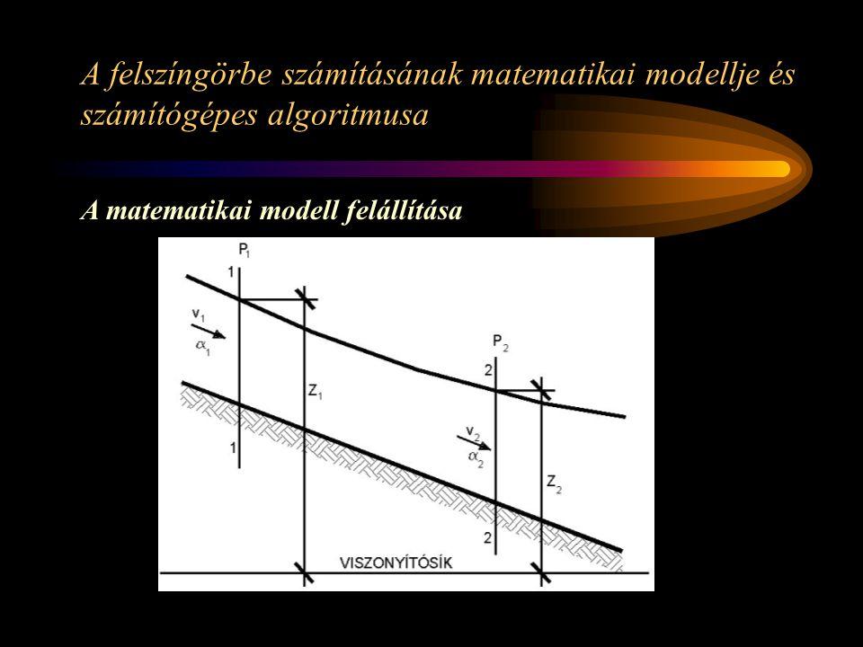 A felszíngörbe számításának matematikai modellje és számítógépes algoritmusa A matematikai modell felállítása
