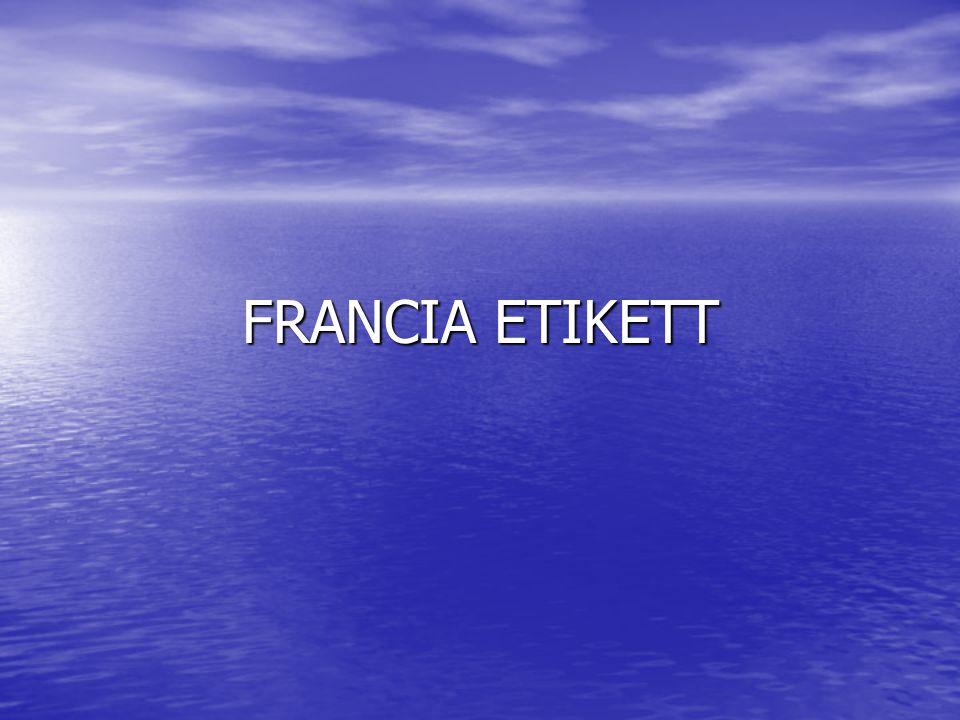 FRANCIA ETIKETT