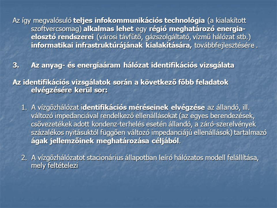 Az így megvalósuló teljes infokommunikációs technológia (a kialakított szoftvercsomag) alkalmas lehet egy régió meghatározó energia- elosztó rendszerei (városi távfűtő, gázszolgáltató, vízmű hálózat stb.) informatikai infrastruktúrájának kialakítására, továbbfejlesztésére.