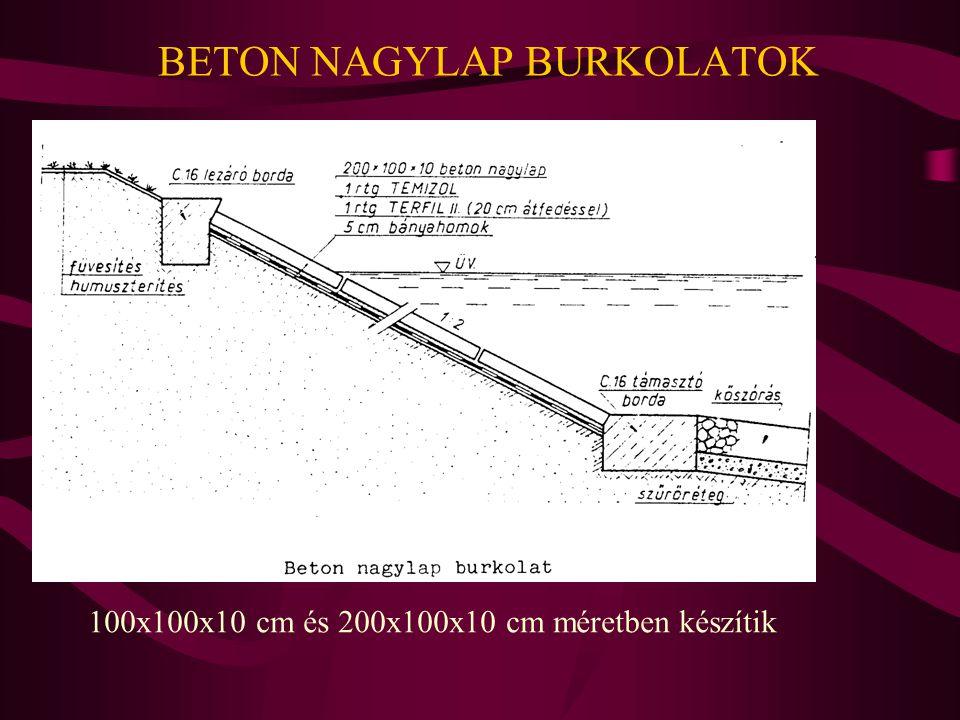 BETON NAGYLAP BURKOLATOK 100x100x10 cm és 200x100x10 cm méretben készítik