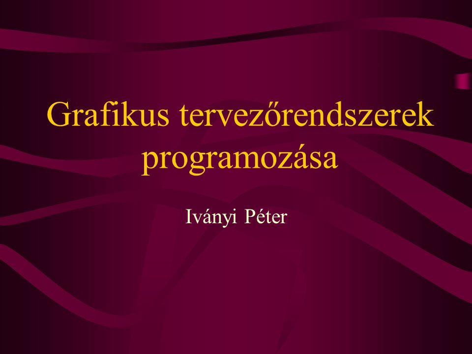 Grafikus tervezőrendszerek programozása Iványi Péter