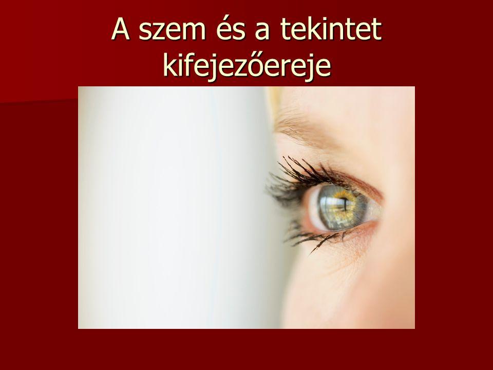 A szem és a tekintet kifejezőereje