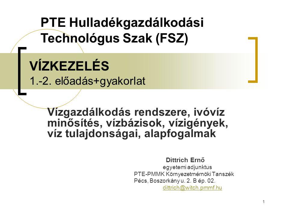 22 Felhasznált irodalom Dr.Chovanecz Tibor: Az ipari víz előkészítése.
