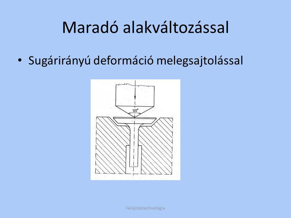 Feltöltő hegesztések Kézi (elavult) Rezgőelektródás (minősége bizonytalan) Fedőporos (2-8 mm, egyenletes, szívós ) Felújítástechnológia