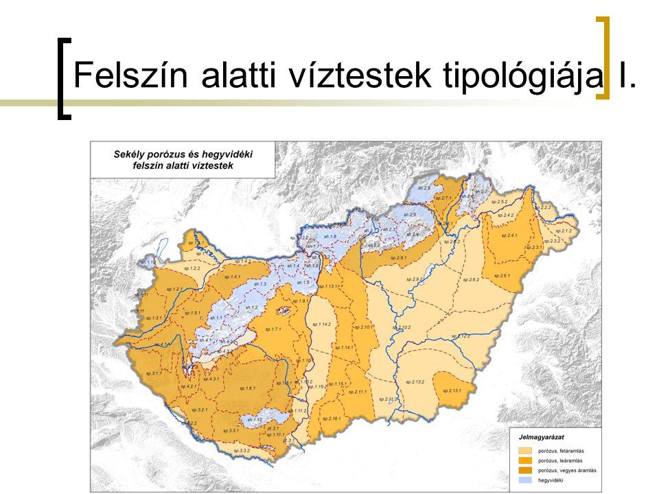 Felszín alatti víztestek tipológiája I.