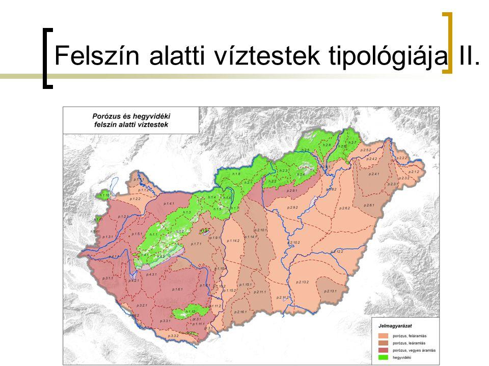 Felszín alatti víztestek tipológiája II.
